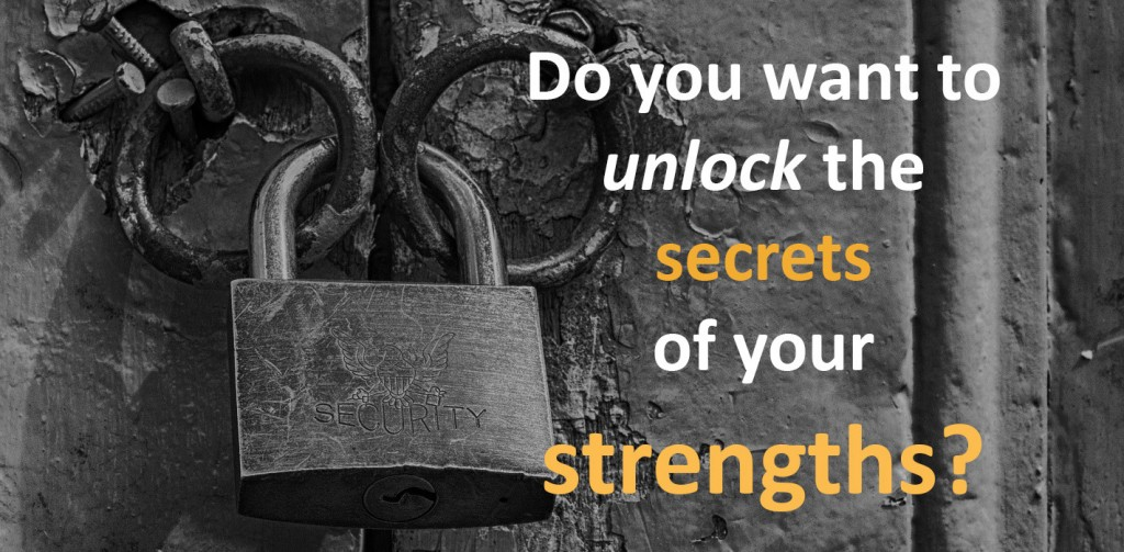 Padlock for unlocking the secrets to your strengths